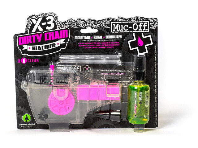 Muc-Off X-3 Kettenreinigungsgerät inklusive Drivetrain Cleaner